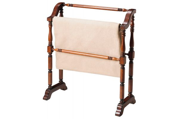 Large image of Butler Specialty Company Lilian Plantation Cherry Blanket Rack - 5020024