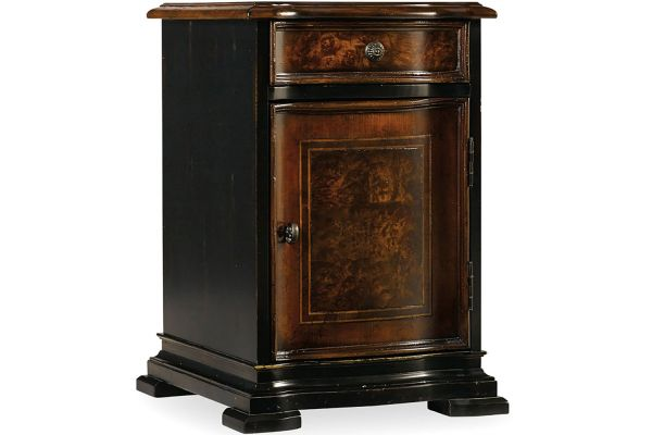 Large image of Hooker Furniture Black Living Room Grandover Chairide Chest - 5029-50004