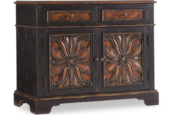 Large image of Hooker Furniture Black Living Room Grandover Two Drawer Two Door Chest - 5029-85002
