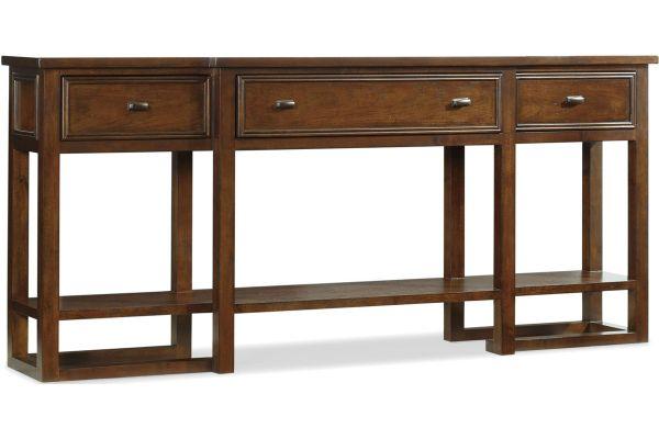 Large image of Hooker Furniture Dark Wood Living Room Lorimer Console Table - 5065-80151