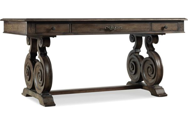Large image of Hooker Furniture Reclaimed Natural Home Office Rhapsody Writing Desk - 5070-10459
