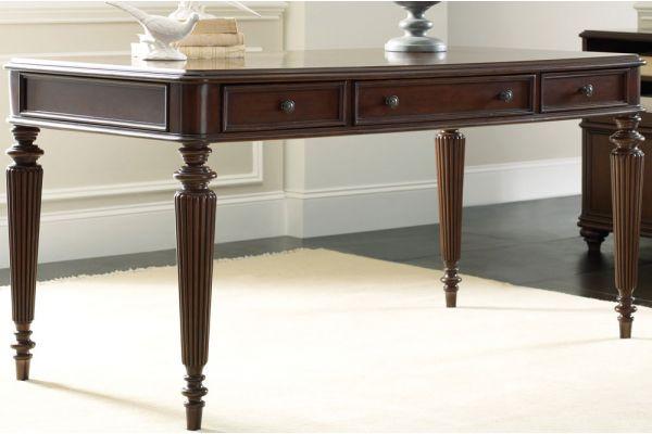 """Large image of Hooker Furniture Dark Wood Home Office 60"""" Leg Desk - 5085-10458"""