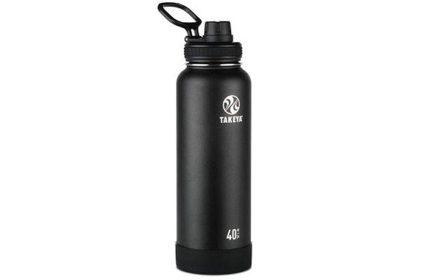 Large image of Takeya 40 Oz Onyx Actives Insulated Water Bottle - 51000
