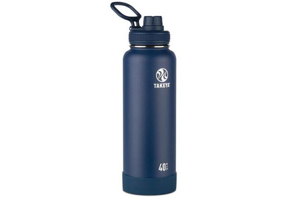 Large image of Takeya 40 Oz Midnight Actives Insulated Water Bottle - 51004