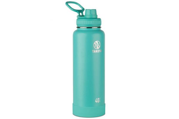 Large image of Takeya 40 Oz Teal Actives Insulated Water Bottle - 51008