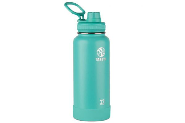 Large image of Takeya 32 Oz Teal Actives Insulated Water Bottle - 51028