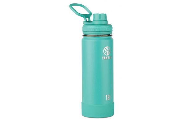 Large image of Takeya 18oz Teal Actives Insulated Water Bottle - 51068