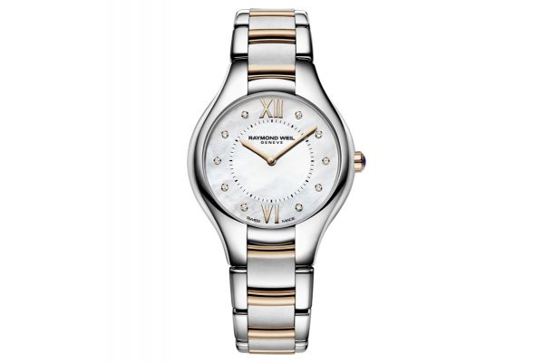 Large image of Raymond Weil Noemia Rose Gold Quartz White Mother-of-Pearl Dial Womens Watch - 5132SP500985