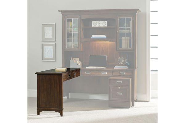 Large image of Hooker Furniture Home Office Latitude Collection Left/Right Return Dark Wood Desk - 5167-10478