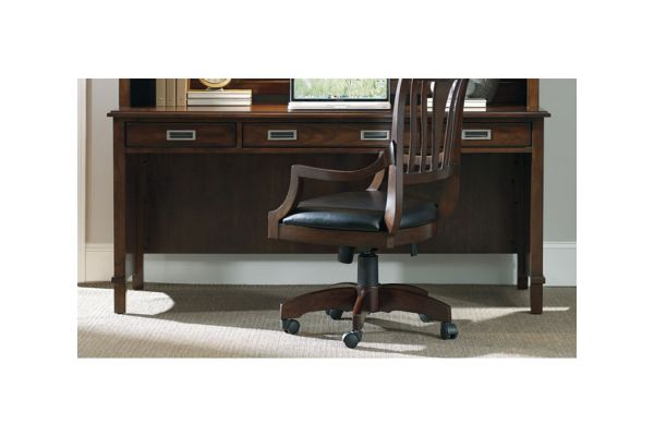 """Hooker Furniture Home Office Latitude Collection 66"""" Dark Wood Writing Desk - 5167-10479"""