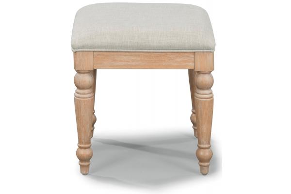 Large image of Homestyles Cambridge Whitewash Vanity Bench - 5170-28