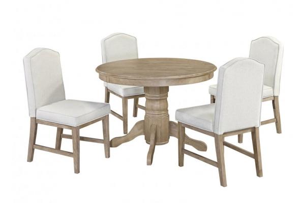 Large image of Homestyles Classic Whitewash 5-Piece Dining Set - 5170-3081