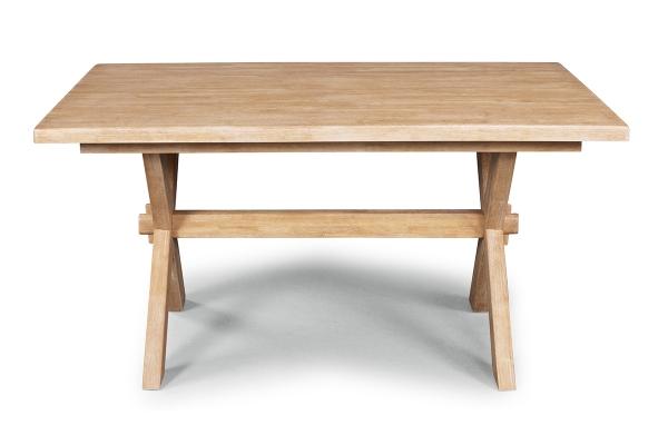 Large image of Homestyles Cambridge Whitewash Trestle Dining Table - 5170-31