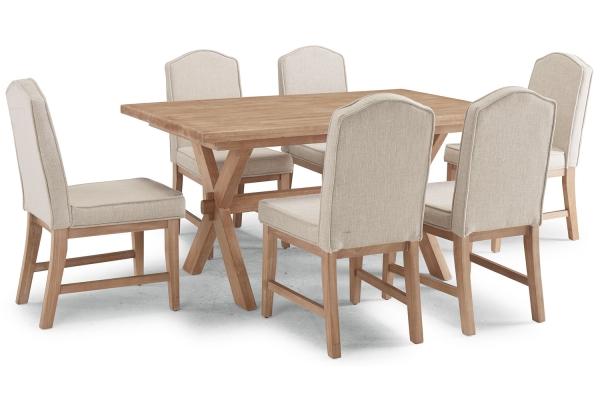 Large image of Homestyles Cambridge Whitewash 7-Piece Dining Set - 5170-3181