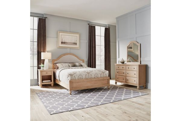 Large image of Homestyles Cambridge Queen Bed, Night Stand, Dresser And Mirror - 5170-5023
