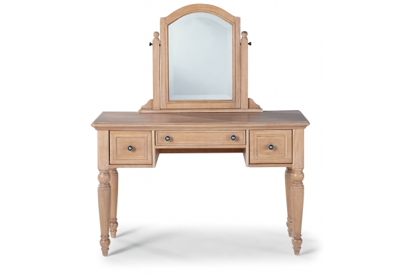Large image of Homestyles Cambridge Whitewash Vanity & Mirror - 5170-70