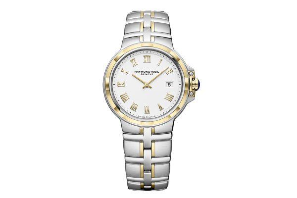 Raymond Weil Parsifal Two-Tone Quartz Classic White Dial Womens Watch - 5180STP00308