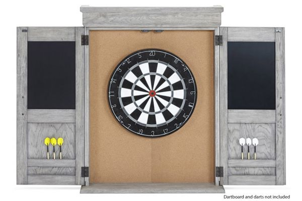 Large image of Brunswick Rustic Grey Dartboard Cabinet - 51870575006