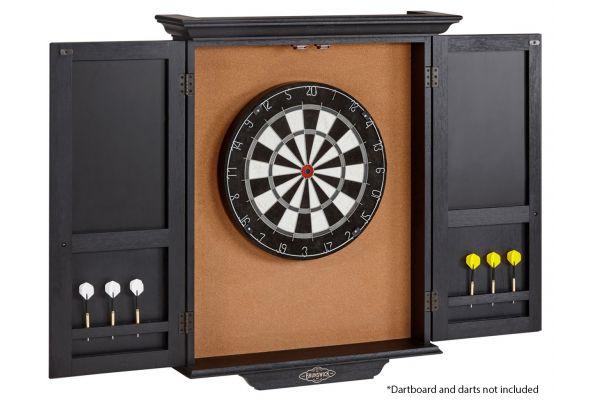 Large image of Brunswick Black Wire Brush Dartboard Cabinet - 51870575007