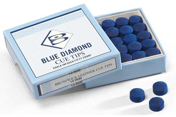 Large image of Brunswick Blue Diamond Leather Cue Tips - 51870951000