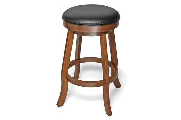 Large image of Brunswick Traditional Chestnut Backless Barstool - 51870969001