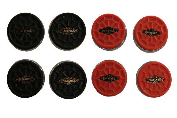 Large image of Brunswick Red And Black Shuffleboard Puck Set  - 51871185001