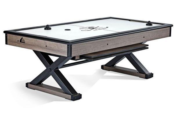 Large image of Brunswick Weathered Oak Premier Air Hockey Table - 51871382001