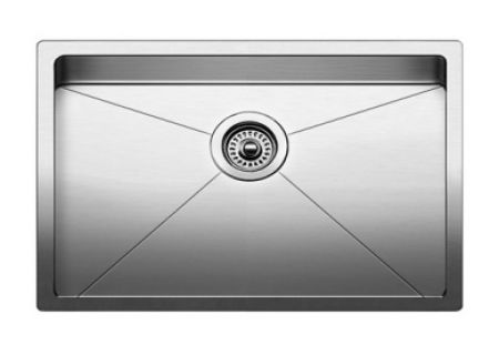 "Blanco 28"" Quatrus R15 Stainless Steel Single Bowl Kitchen Sink - 521484"