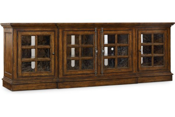 Large image of Hooker Furniture Dark Wood Home Entertainment Console - 5302-55492