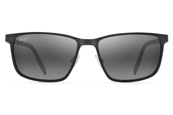 Large image of Maui Jim Black Cut Mountain Polarized Rectangular Sunglasses - 5322M