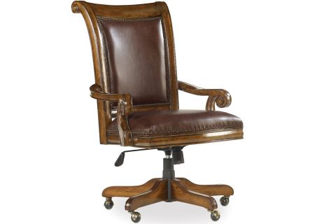 Hooker Furniture Warm Chestnut Home Office Tynecastle Tilt Swivel Desk Chair - 5323-30220