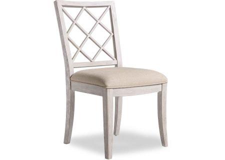 Hooker Furniture Hatteras White Dining Room Sunset Point Upholstered X-Back Side Chair - 5325-75510