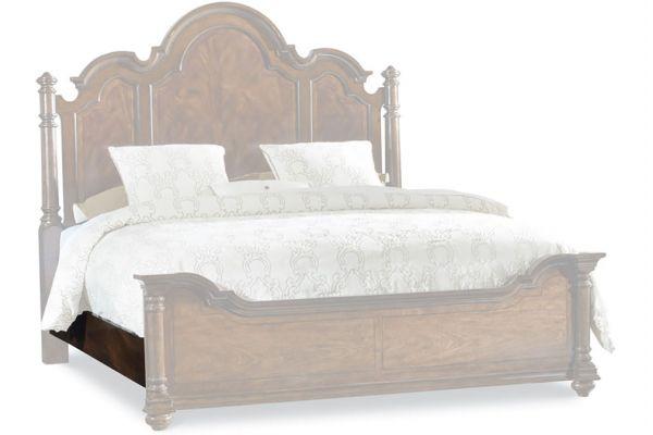 Large image of Hooker Furniture Bedroom Dark Wood Queen Side Rails 5/0-6/6 - 5381-90653