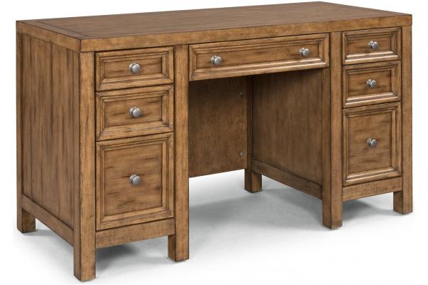 Large image of Homestyles Sedona Toffee Pedestal Desk - 5420-18