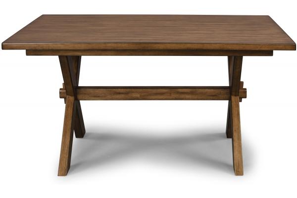 Large image of Homestyles Sedona Toffee Rectangular Trestle Dining Table - 5420-31