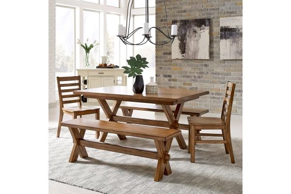 Large image of Homestyles Sedona Toffee 5-Piece Dining Set - 5420-3128