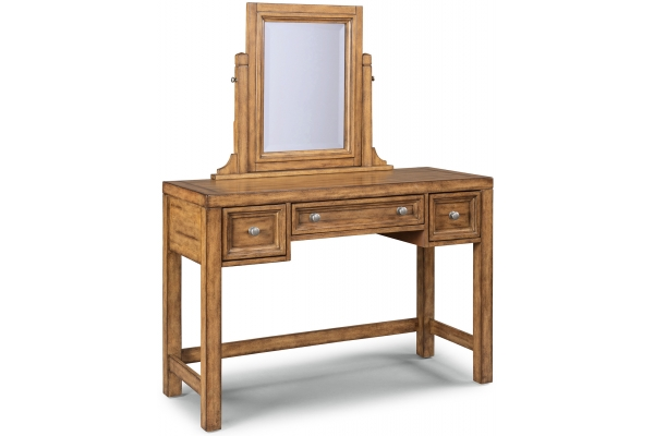 Large image of Homestyles Sedona Toffee Vanity With Mirror - 5420-70