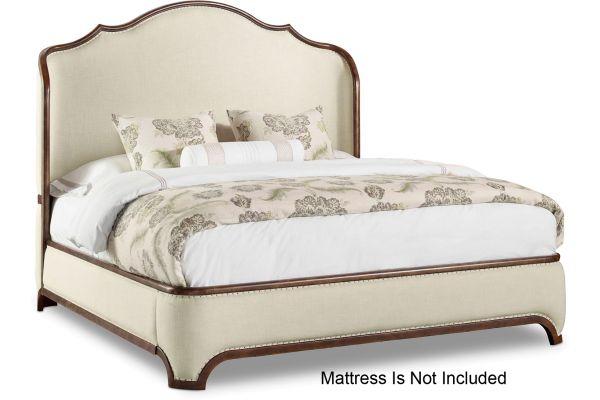 Large image of Hooker Furniture Bedroom Archivist King Upholstered Shelter Bed - 5447-90866