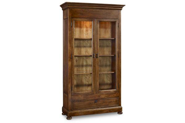 Large image of Hooker Furniture Archivist Dark Wood Display Cabinet - 5447-75908