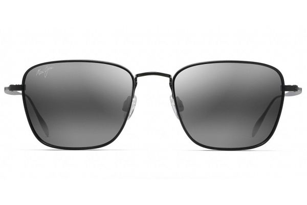 Large image of Maui Jim Matte Black Spinnaker Polarized Classic Sunglasses - 545-2M