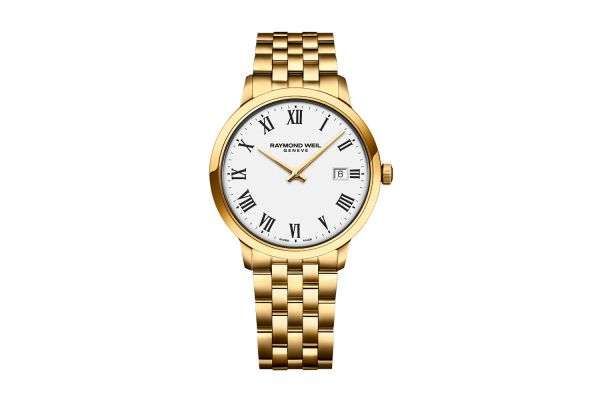 Large image of Raymond Weil Toccata Classic Gold White Dial Quartz Mens Watch - 5485P00300