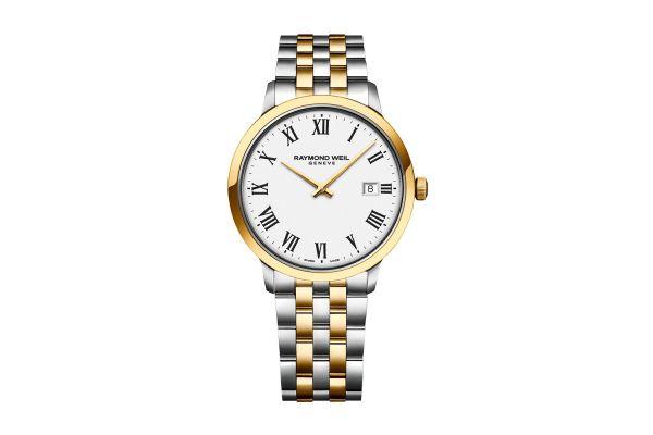 Raymond Weil Toccata Classic Two-Tone White Dial Quartz Mens Watch - 5485STP00300