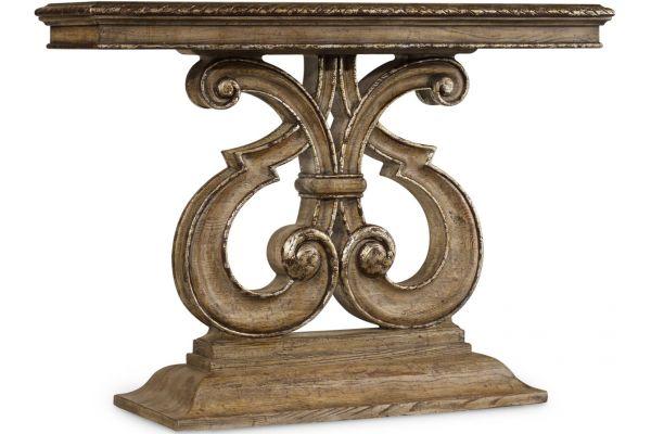 Large image of Hooker Furniture Living Room Light Caramel Latte Solana Console Table - 5491-85001