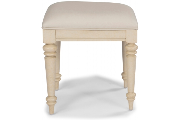 Large image of Homestyles Provence Antiqued White Vanity Bench - 5502-28