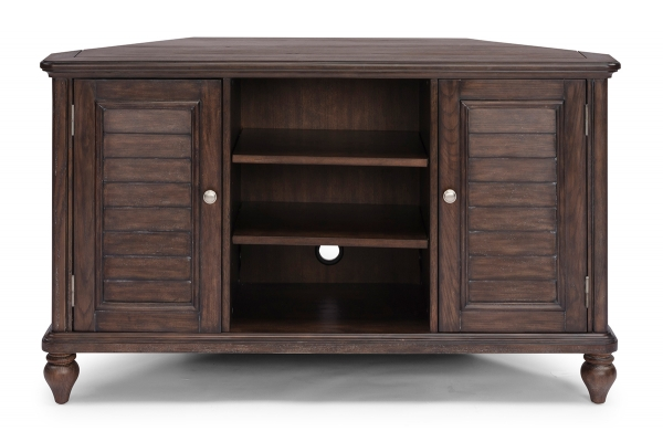 Large image of Homestyles Southport Distressed Oak Corner Entertainment Stand - 5503-07