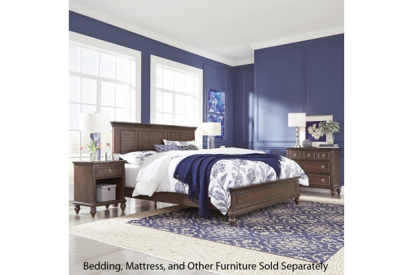 Large image of Homestyles Southport Distressed Oak King Bed, Nightstand & Drawer Chest - 5503-6021