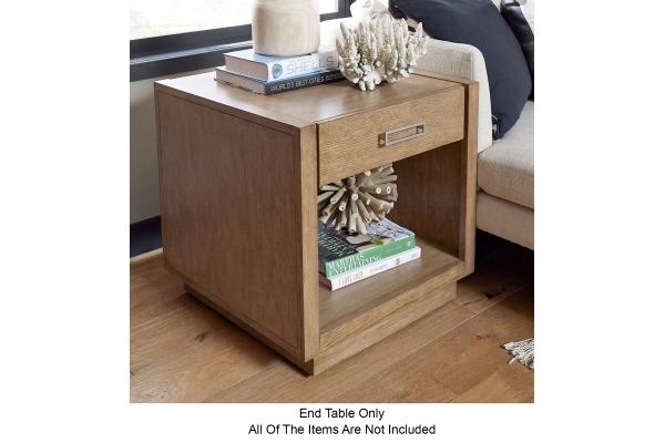 Large image of Homestyles Big Sur Oak Square End Table - 5506-20