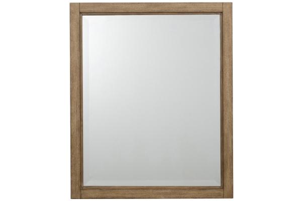 Large image of Homestyles Big Sur Oak Landscape Mirror - 5506-78