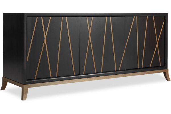 Large image of Hooker Furniture Home Entertainment Console - 5518-55464-BLK