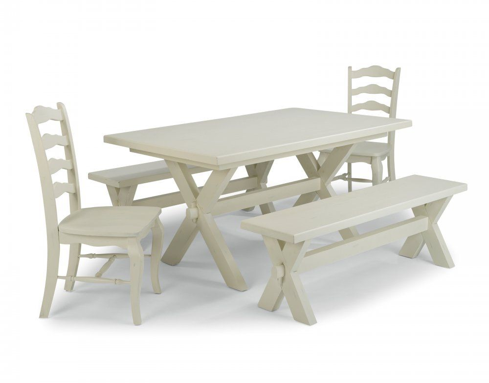 Pleasant Home Styles Seaside Lodge 5 Piece Dining Group With Table 2 Chairs And 2 Benches Gmtry Best Dining Table And Chair Ideas Images Gmtryco